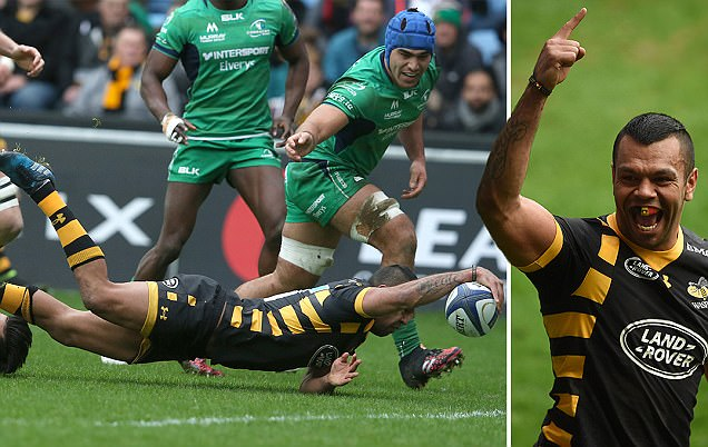 Wasps 32-17 Connacht:Kurtley Beale marks his debut with a try