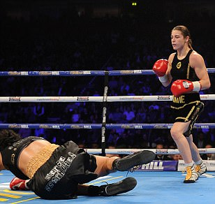 Katie Taylor outclasses Viviane Obenauf to claim second professional win on the undercard