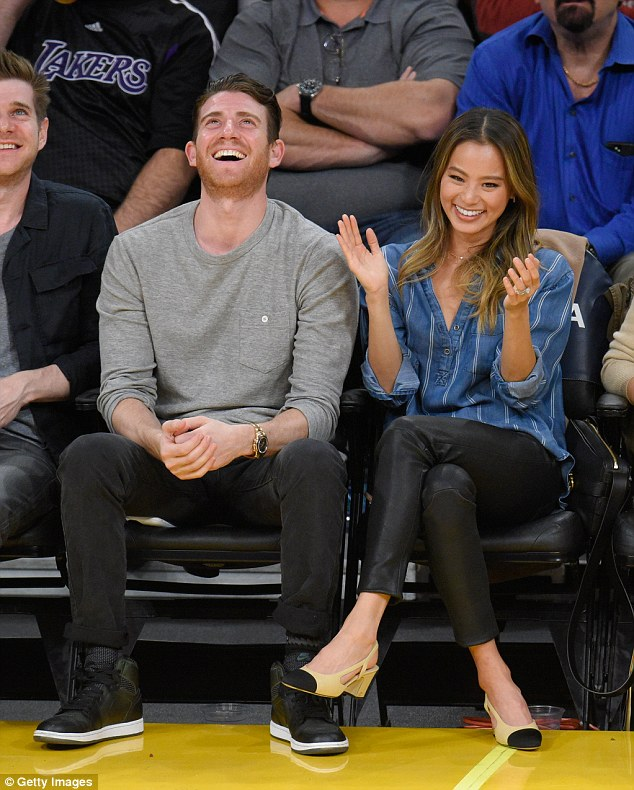 Game night! Jamie Chung her husband Bryan Greenberg couldn't take their eyes off the game