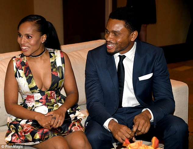 Growing brood: Kerry and her husband NFL player Nnamdi Asomugha welcomed son Caleb Kelechi in October, their second child after two-year-old daughter Isabelle Amarachi