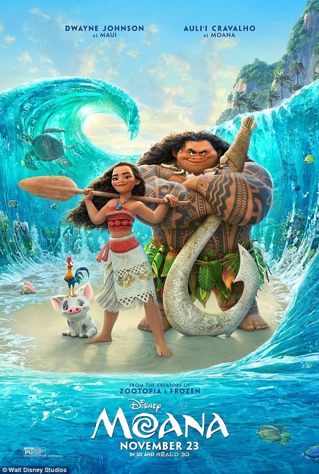 Number one: In Moana - Auli'i's first ever film - she plays Polynesian princess Moana Waialiki, who sets out to find shape-shifting demigod Maui (Dwayne Johnson) and save her endangered island