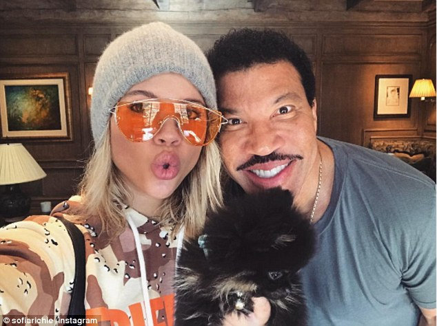 Music royalty: The model is the daughter of Lionel Richie and his second wife Diana Alexander