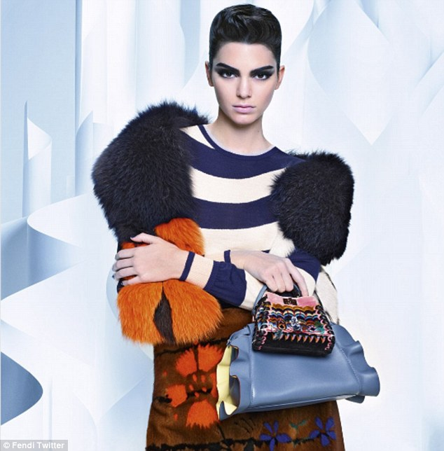 Karl approved: The model had a lot to celebrate, as on Sunday the images from her photo shoot with Fendi came out