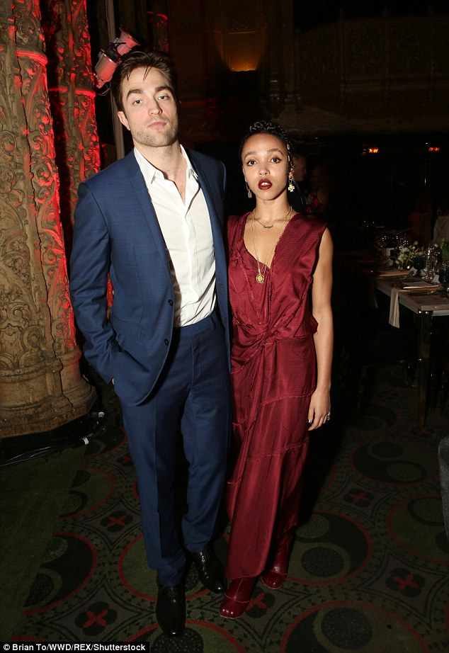 Together: Robert Pattinson stepped out with fiancee FKA Twigs on Saturday