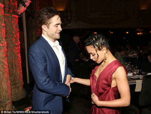 Look of love: The 30-year-old actor cosied up to the private-school educated rapper from Cheltenham, UK, as they attended L.A. Dance Project Annual Gala in Los Angeles