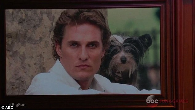 You don't remember, Matthew? The Interstellar star, 47, looked lost when a photo of him and a puppy was shown on screen