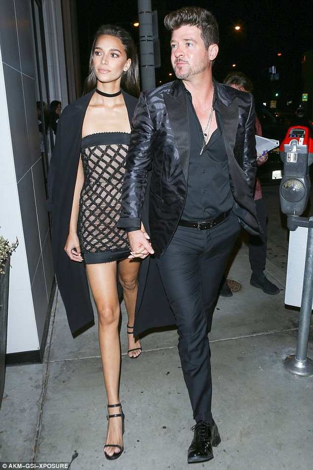 What's 17 years?: Robin Thicke, who turned 39 this year, brought his newly 22-year-old girlfriend out to the celebrity flypaper restaurant Catch LA on Saturday night