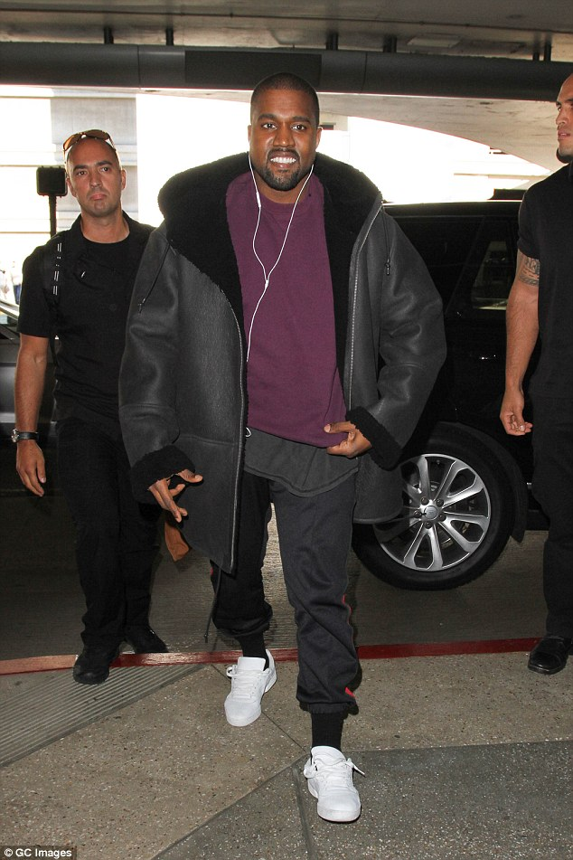 Moving on: Kanye West's studio was seen emptying out by movers and trucks on Thursday in Calabasas, California