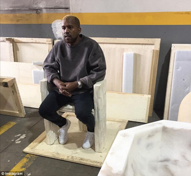 First-time appearance: The father-of-two was seen publicly for the first time since he left UCLA Medical Center at Rick Owens' furniture exhibit as he sported new blonde hair