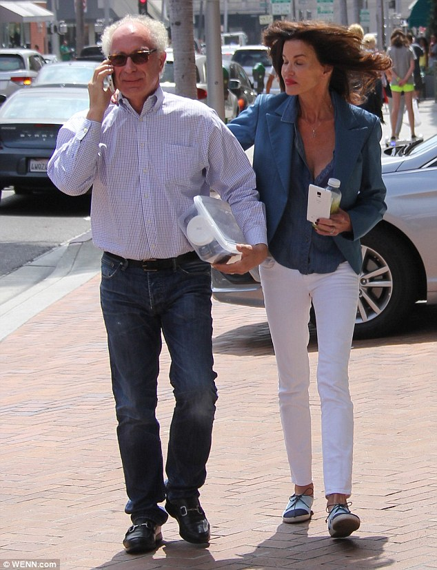 Emotional: Janice reportedly sobbed during her vows and as she thanked Dr. Drew, who attended the wedding, for helping to get her sober. The couple are pictured in August 2015