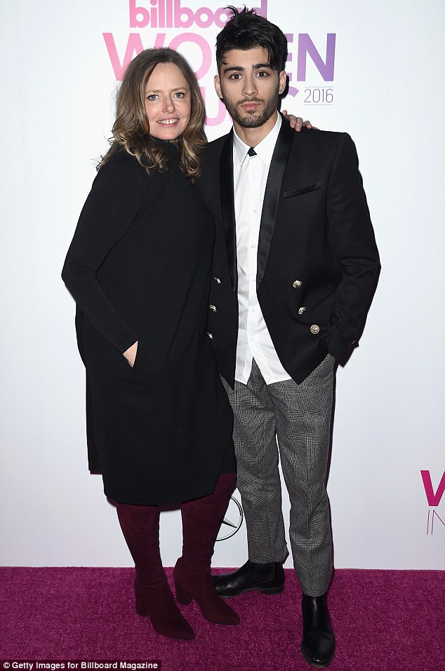 Staying strong: The Pillowtalk star remained in New York during Louis' emotional tribute to his late mother, for working commitments such as the Billboard Women in Music Awards (above)