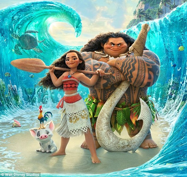On a wave:Moana held top spot at the box office for a third weekend, earning $18.8 million