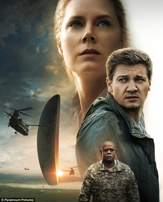 Sci-fi winner:Arrival, starring Amy Adams and Jeremy Renner, came in fourth with $5.6 million, pushing its US gross to $81.5 million after three weeks on release
