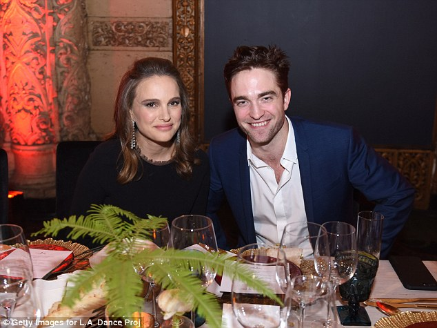 In good company: The actress was also joined by handsome British star Robert Pattinson
