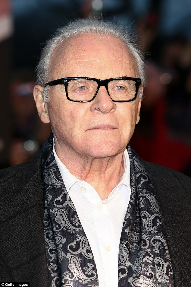 All good:Sir Anthony Hopkins has admitted he suffers with paranoia, which causes him to worry that nobody likes him