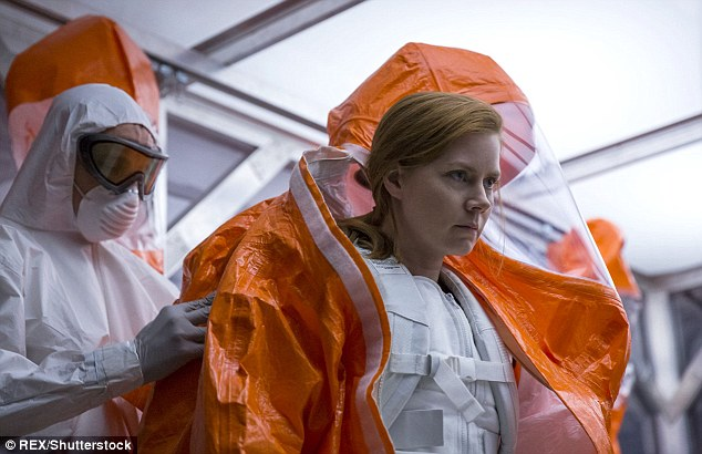 The actress currently stars in Arrival alongside Jeremy Renner andForest Whitaker