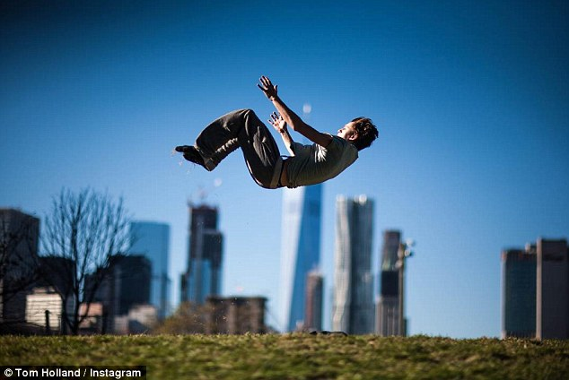 Real life Spider-Man?In one mesmerizing shot posted on November 15th, he flies through the air, apparently doing a flip in front of the New York skyline