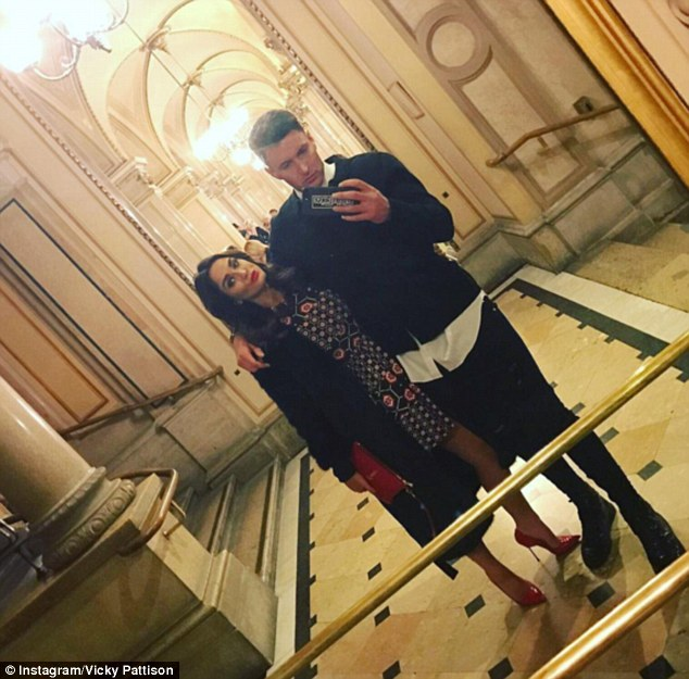 New man: Vicky recently became romantically involved with John Noble and the pair appear incredibly smitten - posting adorable selfies on social media