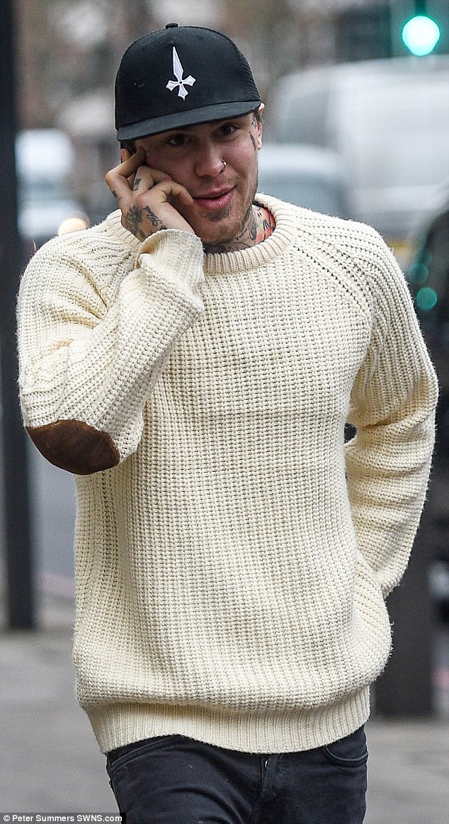 In court: Big Brother star Marco Pierre White Jr arrived at court to be sentenced for spending £2,500 on his ex-girlfriend's bank card when she lent it to him to buy food
