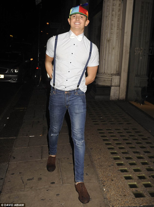 Funny man: Gary's son George Lineker, 23, was seen larking around on a night out in London's West End in the early hours of Sunday morning