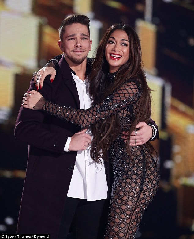Winner! Matt Terry, 23, (pictured with his mentor, show judge Nicole Scherzinger) was crowned winner of The X Factor 2016 on Sunday night