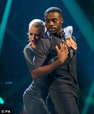 Success: Danny joins Ore Oduba and Joanne Clifton (L) and Louise Redknapp and Kevin Clifton (R) in next week's final