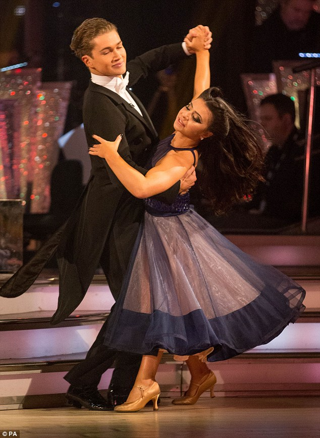 Out on a high:Despite being left devastated by the results, Claudia certainly went out with a bang after scoring her highest mark in the competition so far on Saturday night