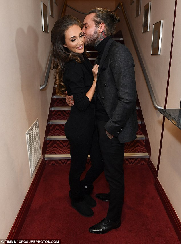 Pucker up! Boyfriend Pete Wicks looked proud as punch as he supported Megan Mckenna during her live singing debut