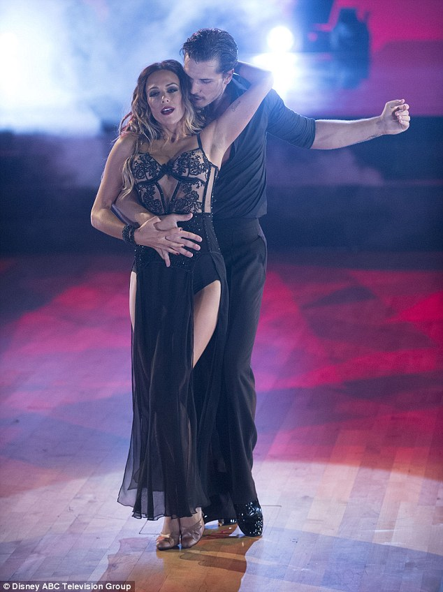 Joining forces: Megan joined Gleb Savchenko for the West End show on Sunday night
