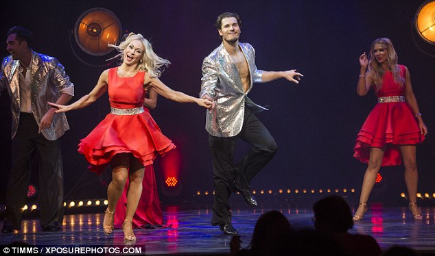 Quite the show: The dancers thrilled the crowds with their energetic routines