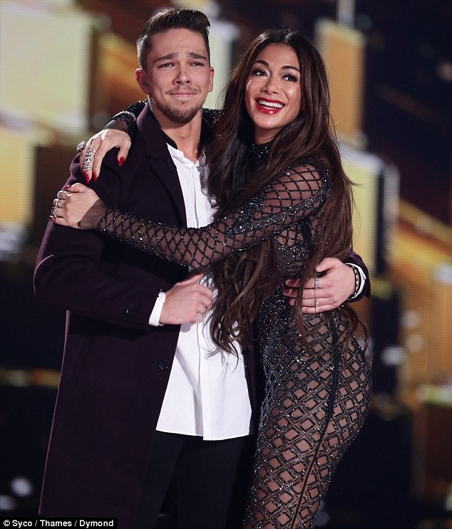 Triumphant: His scathing review of the show, which helped him achieve a number one single and album, came as the nation tuned in to watch Matt Terry win the series 13