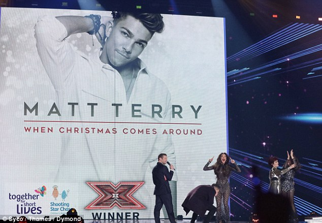 When it comes round! After the winner was announced, the artwork for Matt's debut single was projected on the screen to encourage viewers to head to iTunes to purchase the charity single