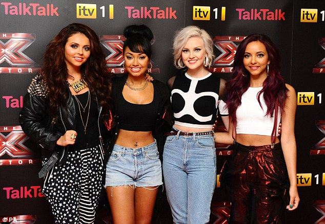 Back again: Exactly five years ago to the day, Little Mix became the first ever group to win The X Factor