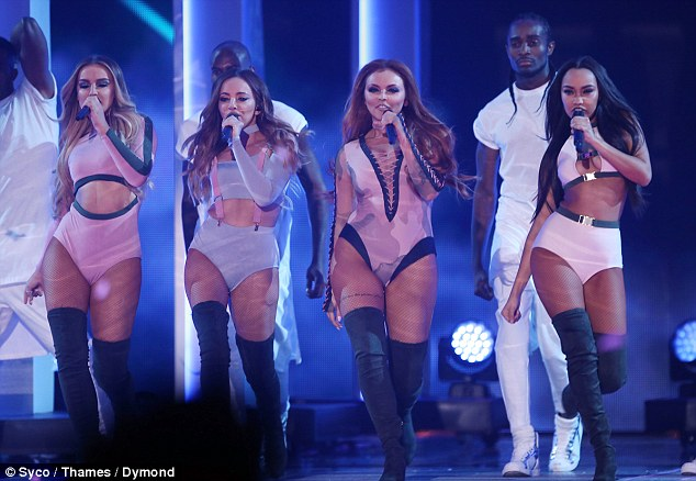 Words of advice: Following their performance on Sunday night, Perrie offered advice to the eventual winner - which turned out to be Matt Terry - saying: 'Get some sleep, use the platform, work hard and have fun'