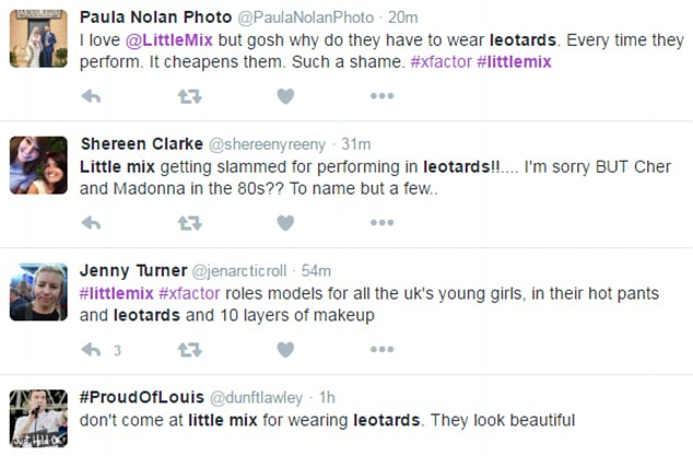 (Little) Mixed reaction: Tweets started to appear online either praising or slamming the girls' racy leotards