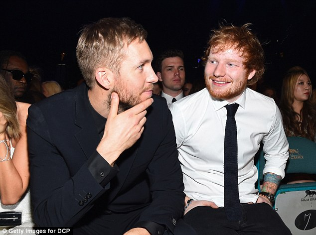 Famous pals: He is the name behind many chart-topping tracks that no-one ever knew (here with Calvin Harris)