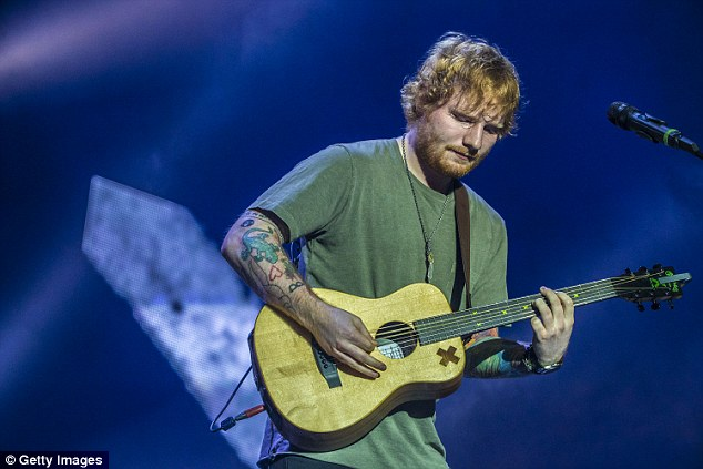 Making music: Ed has been noticeably absent from the spotlight, taking some time out purely to write music