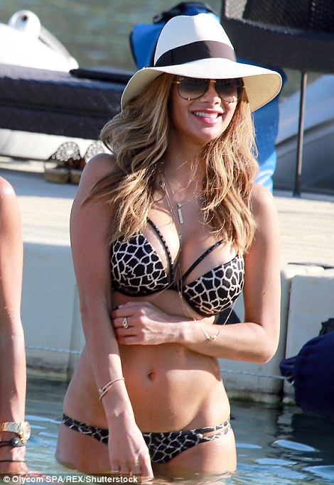Fun in the sun: This summer has seen more A-listers than ever descend on the White Isle, with  everyone from Hollywood heavyweights to the TOWIE crowd jetting to Ibiza (pictured Nicole Scherzinger and Abbey Clancy)