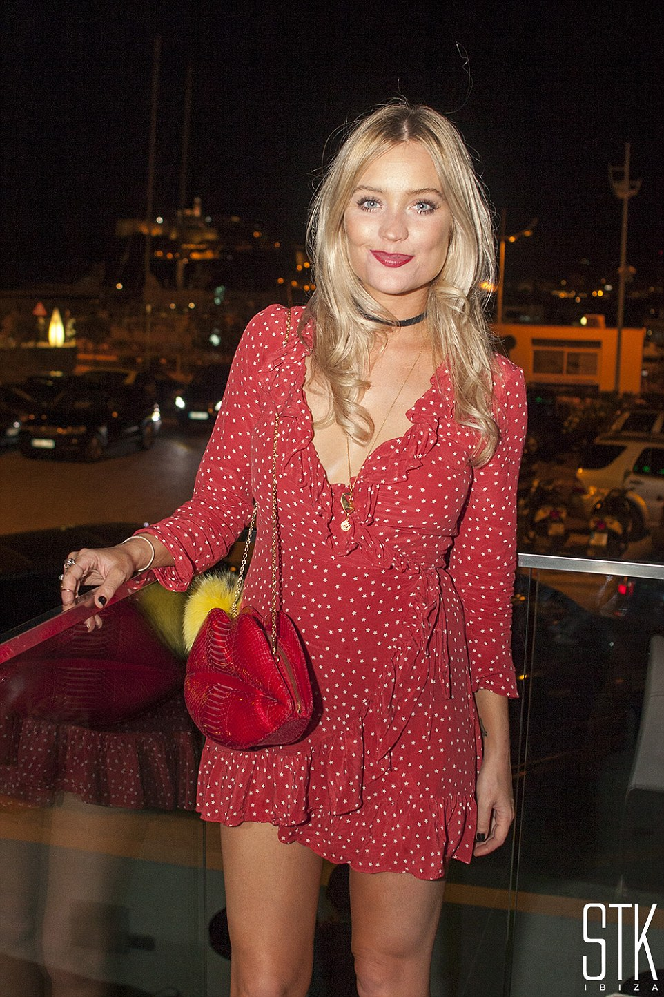 Dancing queen: Strictly Come Dancing contestant Laura Whitmore let her hair down on a night out at STK Ibiza earlier this summer before rehearsals for the BBC One show kicked off