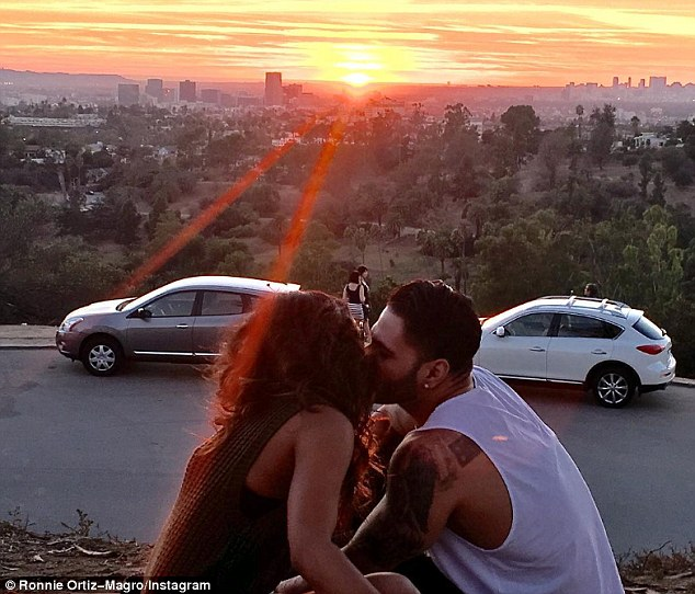 Sealed with a kiss: The reality TV duo just announced their relationship on Wednesday after falling in love on the downtown LA set of E! series Famously Single