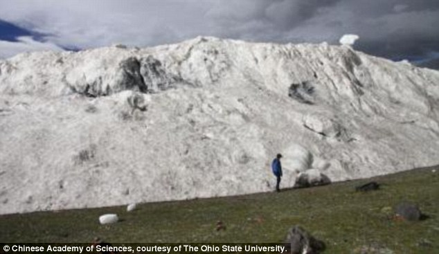 A deadly avalanche that dumped 70 million tons of ice into a valley below the mountains of western Tibet this summer was likely the result of climate change, researchers warn