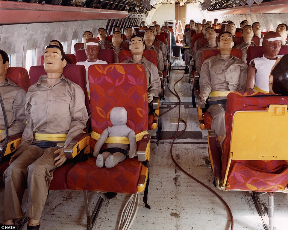 Cameras inside the airliner showed crash dummies being shaken and small panels falling during the crash-landing, although the seats remained attached to the floor.A serving airline captain told MailOnline Travel that the test underscored how real-life crashes are a necessity