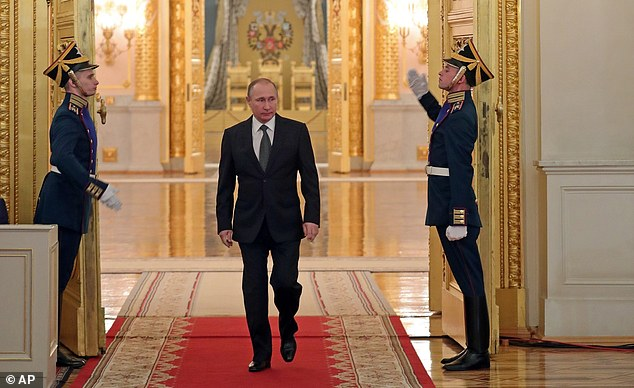 Senate Armed Services Committee Chairman John McCainhas questions about Tillerson's business relationship with Russian President Vladimir Putin (pictured)