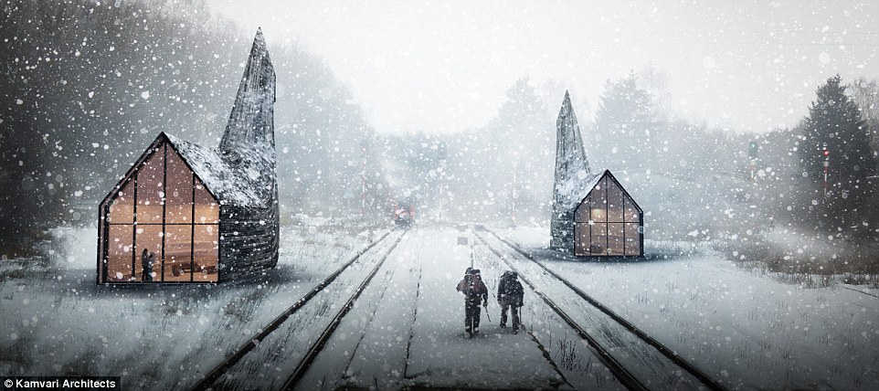 The triangular pods are the brainchild of London-based design studio Kamvari Architects, which came up with the unique concept for the world's longest railway line