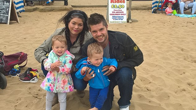 Daniel Pearson, 32, his wife Lyndsey, 30, and their two children, Stanley and Florence, both one, from Dronfield, travelled to the four-star Aparthotel Playa Mar, which they booked through Thomson Holidays