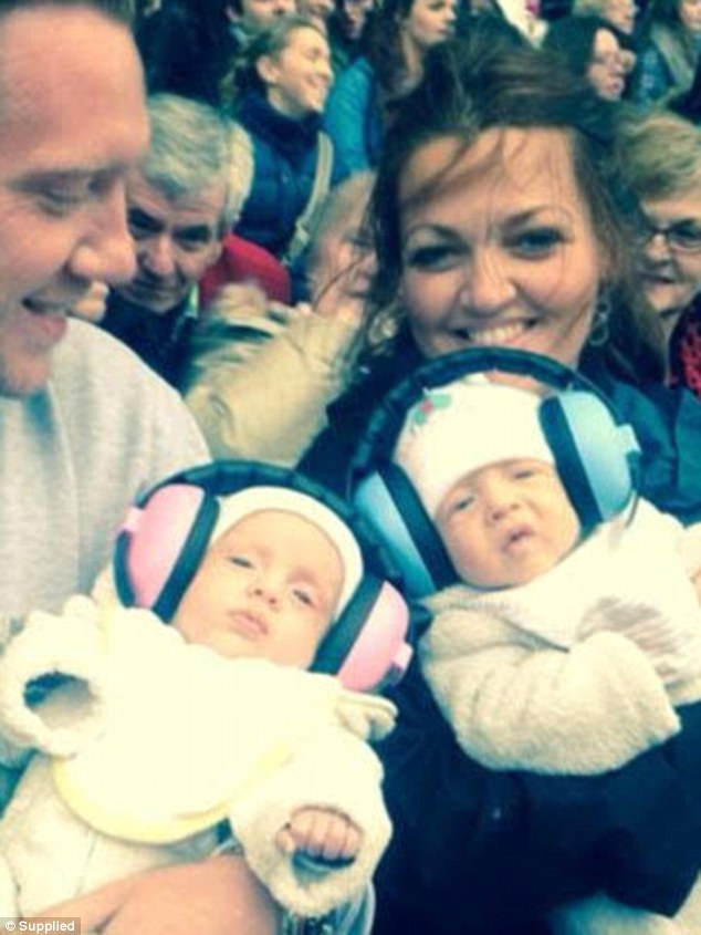 Mum of seven: Johannah gave birth to her youngest children - her twins Ernest and Doris two years ago