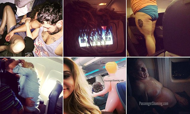 The passenger shaming images that'll leave you reaching for the sick bag