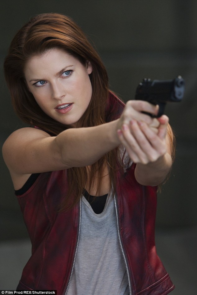 Tough girl: The Heroes hottie plays zombie survivor Claire Redfield in the action-horror films that are inspired by the video game series of the same name