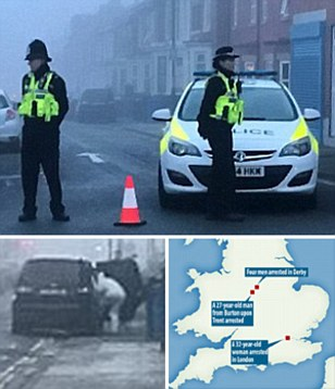Five men and a woman arrested on suspicion of terror offences across England