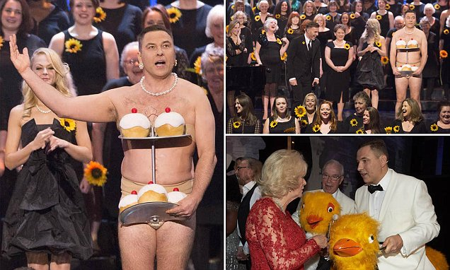 David Walliams brings a touch of Little Britain to The Royal Variety Performance as he
